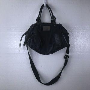 Simply Vera Wang Black Crossbody Faux Leather Bag